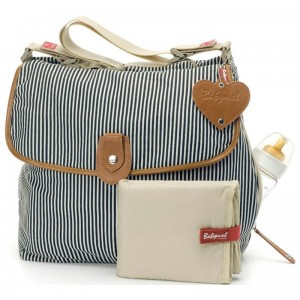 Torba do wózka Satchel Navy Stripe Babymel