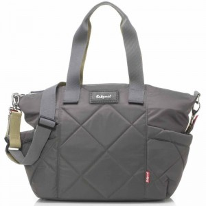 Torba do wózka Evie Quilted Charcoal Babymel
