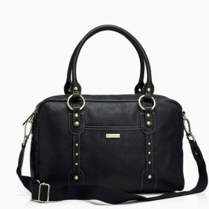 Torba dla mamy Elizabeth Leather Black Storksak
