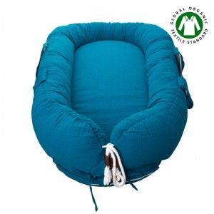 Kokon Newborn Nest muślin Emerald Hi Little One